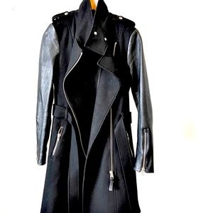 Black Mackage winter coat. Wool/leather size small